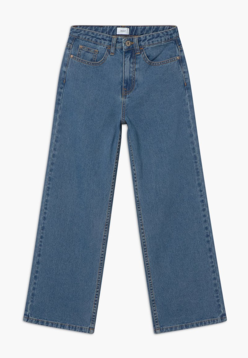 Grunt - WIDE LEG  - Džíny Relaxed Fit - authentic blue