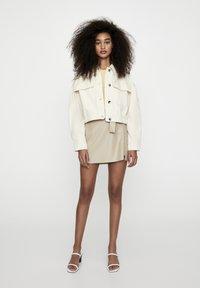 PULL&BEAR - Faux leather jacket - beige - 1