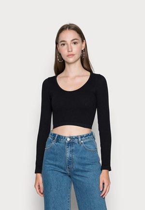 ONLGWEN CROP - Long sleeved top - black