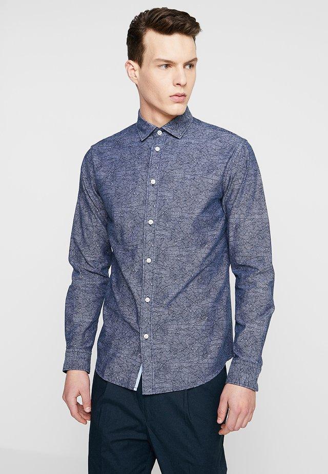 SLHSLIMMARK-WASHED - Business skjorter - dark sapphire