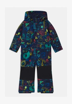 BUTTERFLY UNISEX - Snowsuit - black/multi-coloured