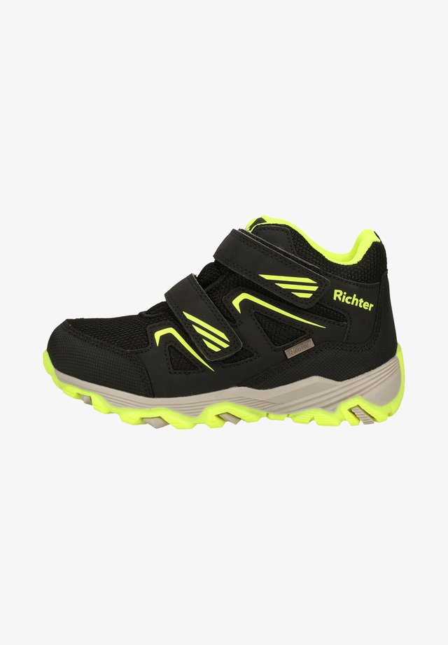 Sneakers hoog - black/yellow