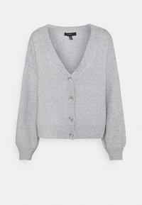 Vero Moda Tall - VMDOFFY V-NECK BUTTON CARDIGAN - Cardigan - light grey melange - 0