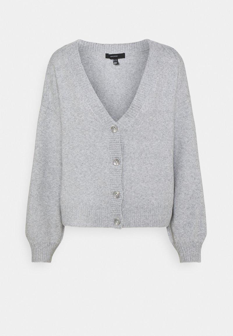 Vero Moda Tall - VMDOFFY V-NECK BUTTON CARDIGAN - Cardigan - light grey melange