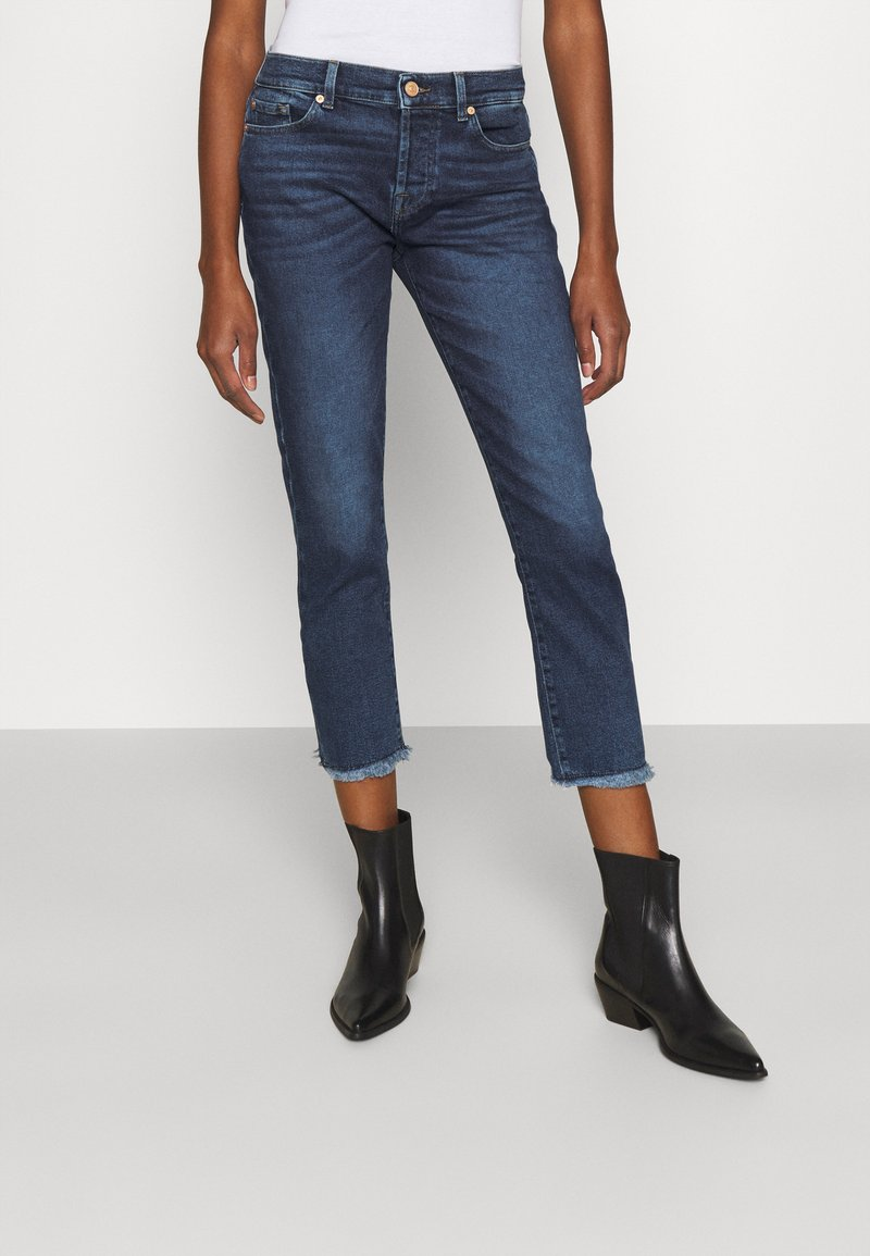 7 for all mankind - ASHER LUXE VINTAGE REJOICE - Jeansy Slim Fit - mid blue