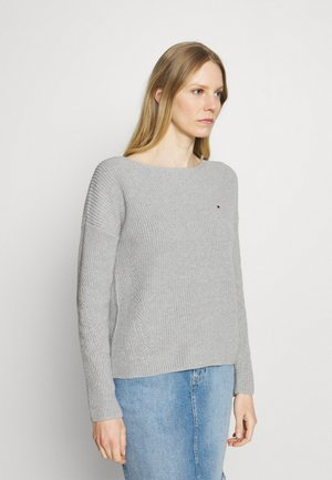 HAYANA BOATNECK - Strikkegenser - light grey heather