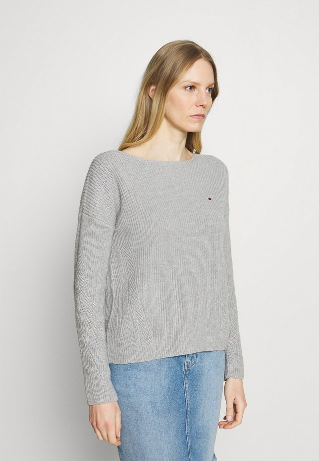 HAYANA BOATNECK - Svetr - light grey heather