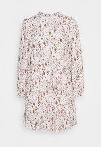 Esqualo - DRESS SMALL FLOWER  - Hverdagskjoler - off-white/light brown - 5