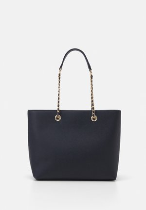 CHAIN HANDLE - Bolso shopping - navy/gold-coloured