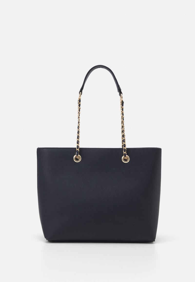 Dorothy Perkins - CHAIN HANDLE - Tote bag - navy/gold-coloured