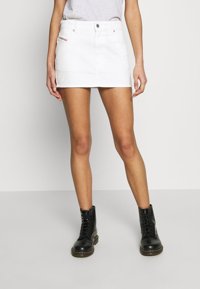 DE-EISY SKIRT - Jeansrock - white