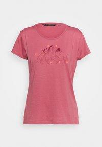 Salewa - GEOMETRIC TEE - Print T-shirt - mauvemood melange - 3