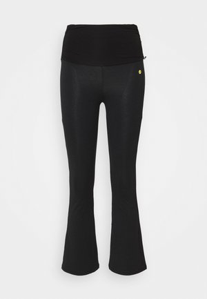 FLARED 7/8 PANTS - Tracksuit bottoms - black
