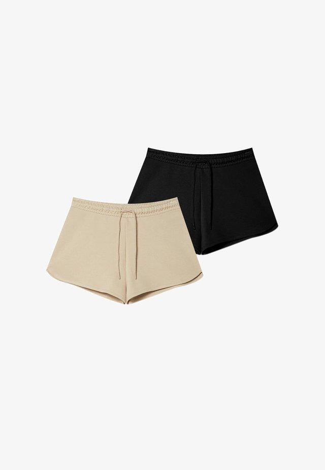 2 pack - Shorts - black/beige