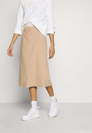 PENCIL - Pouzdrová sukně - light beige