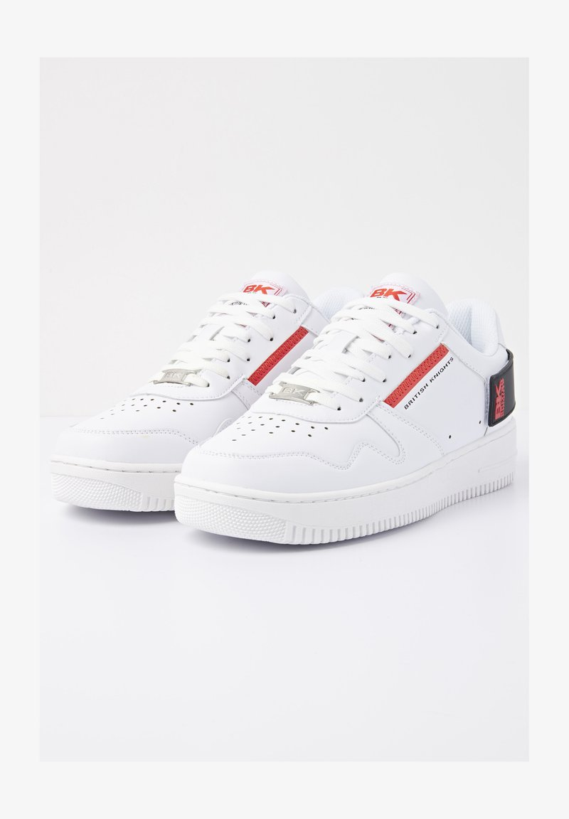 British Knights - SNEAKER JUNE BR - Sneakersy niskie - white/black/red