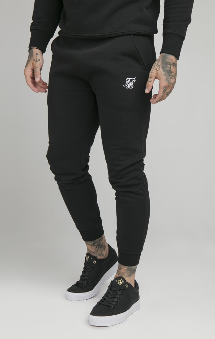 SIKSILK - MUSCLE - Tracksuit bottoms - black