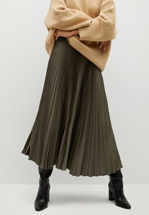 PLISADO - Pleated skirt - kaki
