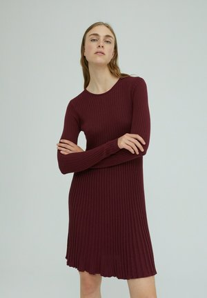Jumper dress - burgunder