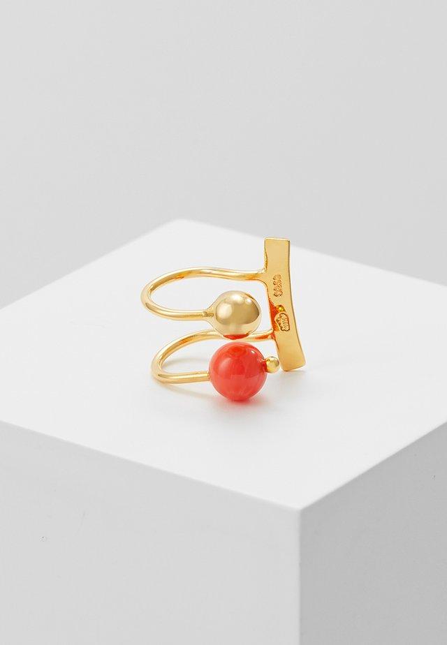 LANA EARCLIP - Náušnice - gold-coloured/coral