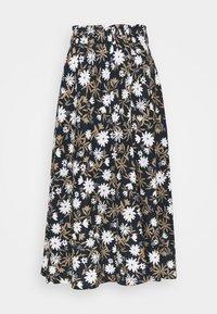 Marks & Spencer London - FLORAL SKIRT - A-line skirt - dark blue - 0