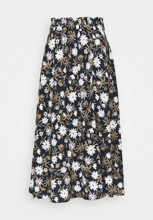FLORAL SKIRT - A-line skirt - dark blue