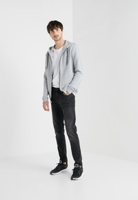HUGO - DAPLE - veste en sweat zippée - open grey - 1