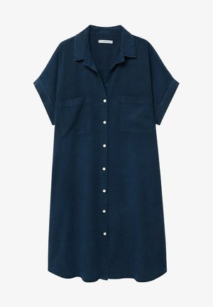 UVA - Shirt dress - dunkles marineblau