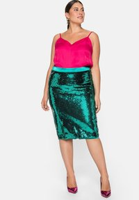Sheego - Pencil skirt - powergrün - 1