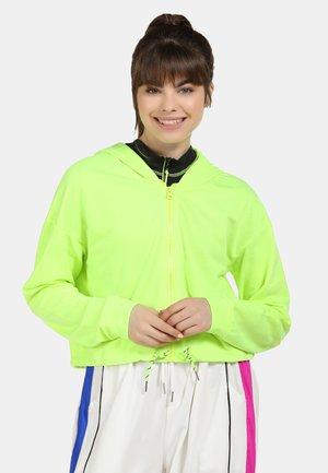 Huvtröja med dragkedja - neon green