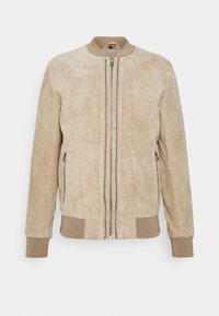 RIVER UP - Leather jacket - driftwood
