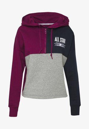 ALL STAR BRUSHED BACK HOODIE - Hoodie - rose maroon/multi