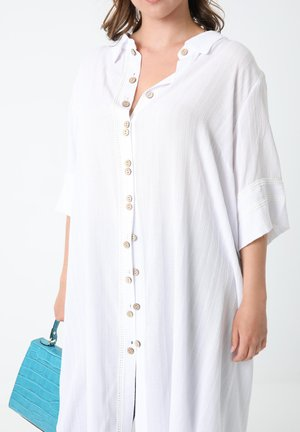 Overhemdblouse - bianco