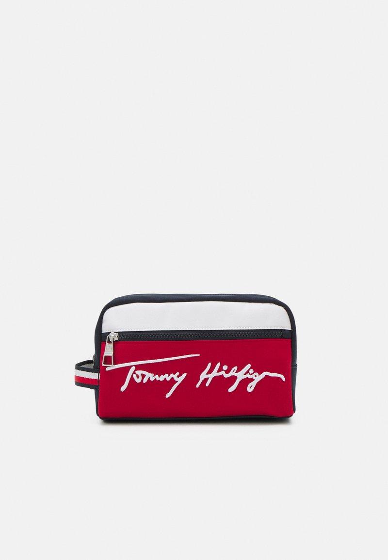 Tommy Hilfiger - SIGNATURE WASHBAG UNISEX - Resetillbehör - blue