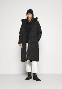 TOM TAILOR DENIM - PADDED LONG COAT - Winter coat - deep black - 1