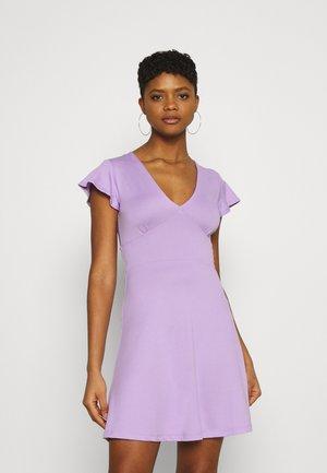 Žerzejové šaty - lilac