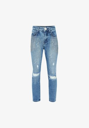BLING TASSEL - Slim fit jeans - blue