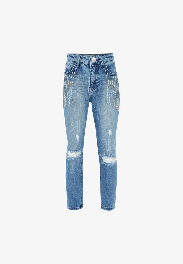 BLING TASSEL - Jeans slim fit - blue