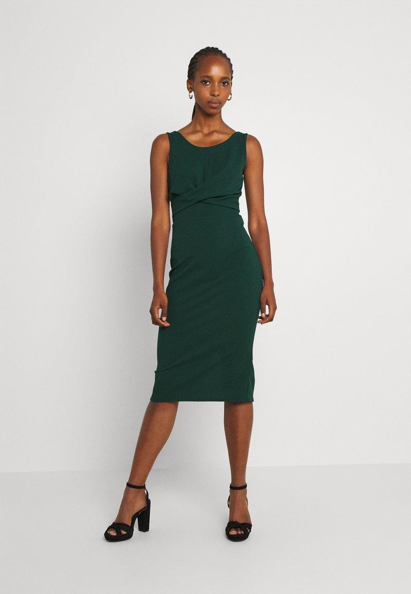 WAL G. - SAKINA WRAP MIDI DRESS - Jersey dress - forest green