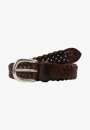 Braided belt - braun