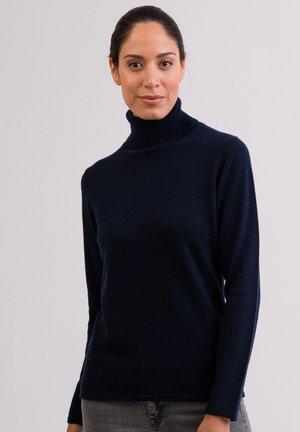 Strickpullover - marine blau