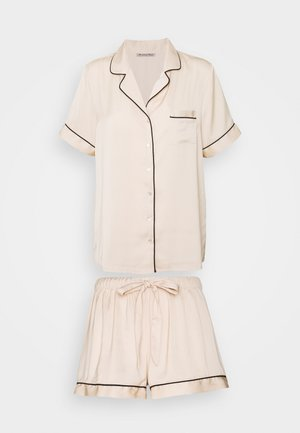 AMANDA SHORT SLEEVE PJ SET  - Yöasusetti - gold