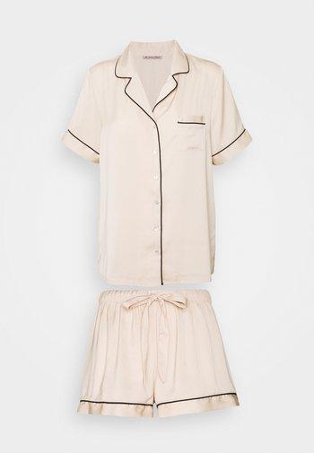AMANDA SHORT SLEEVE PJ SET  - Pyjama - gold