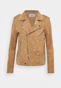 Deadwood - RIVER - Leather jacket - brandy - 3
