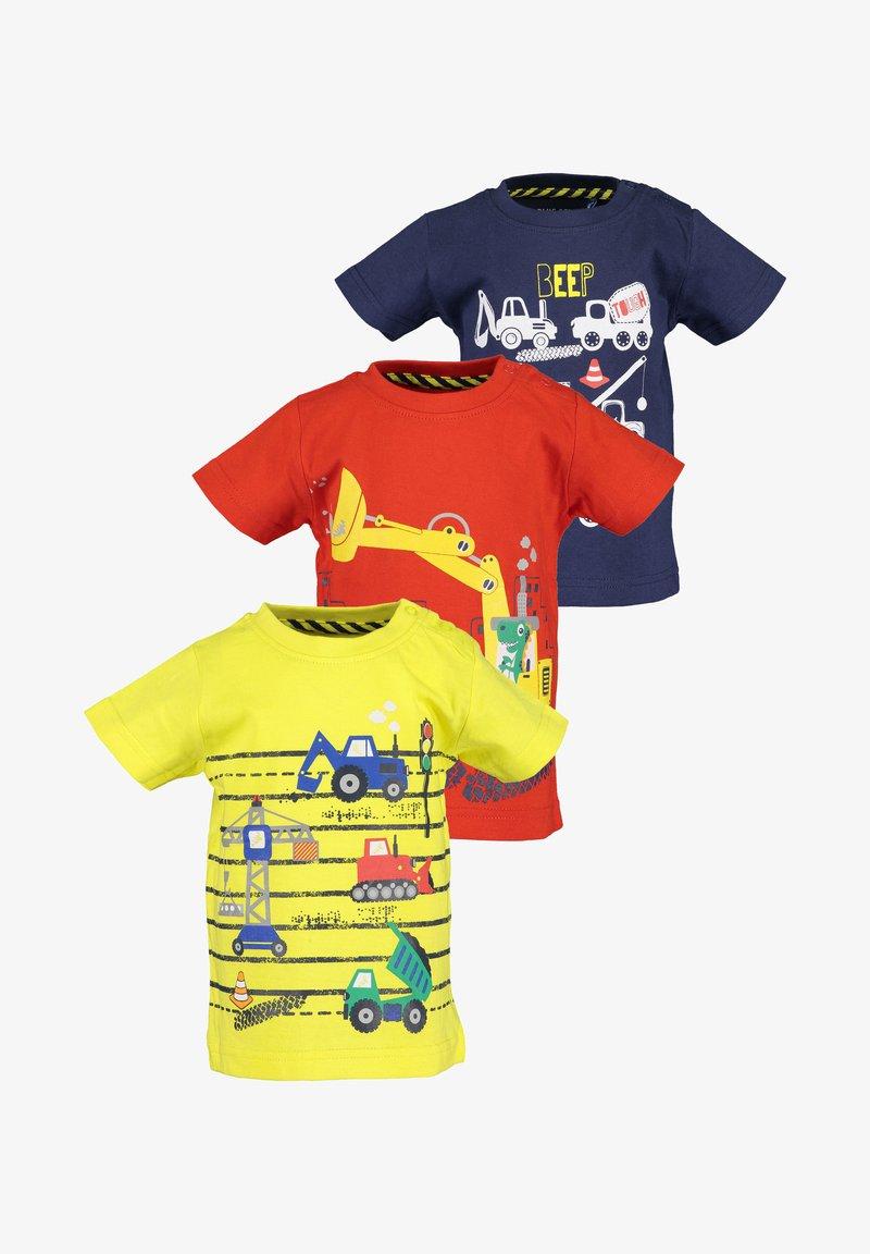 Blue Seven - BASICS - Print T-shirt - yellow