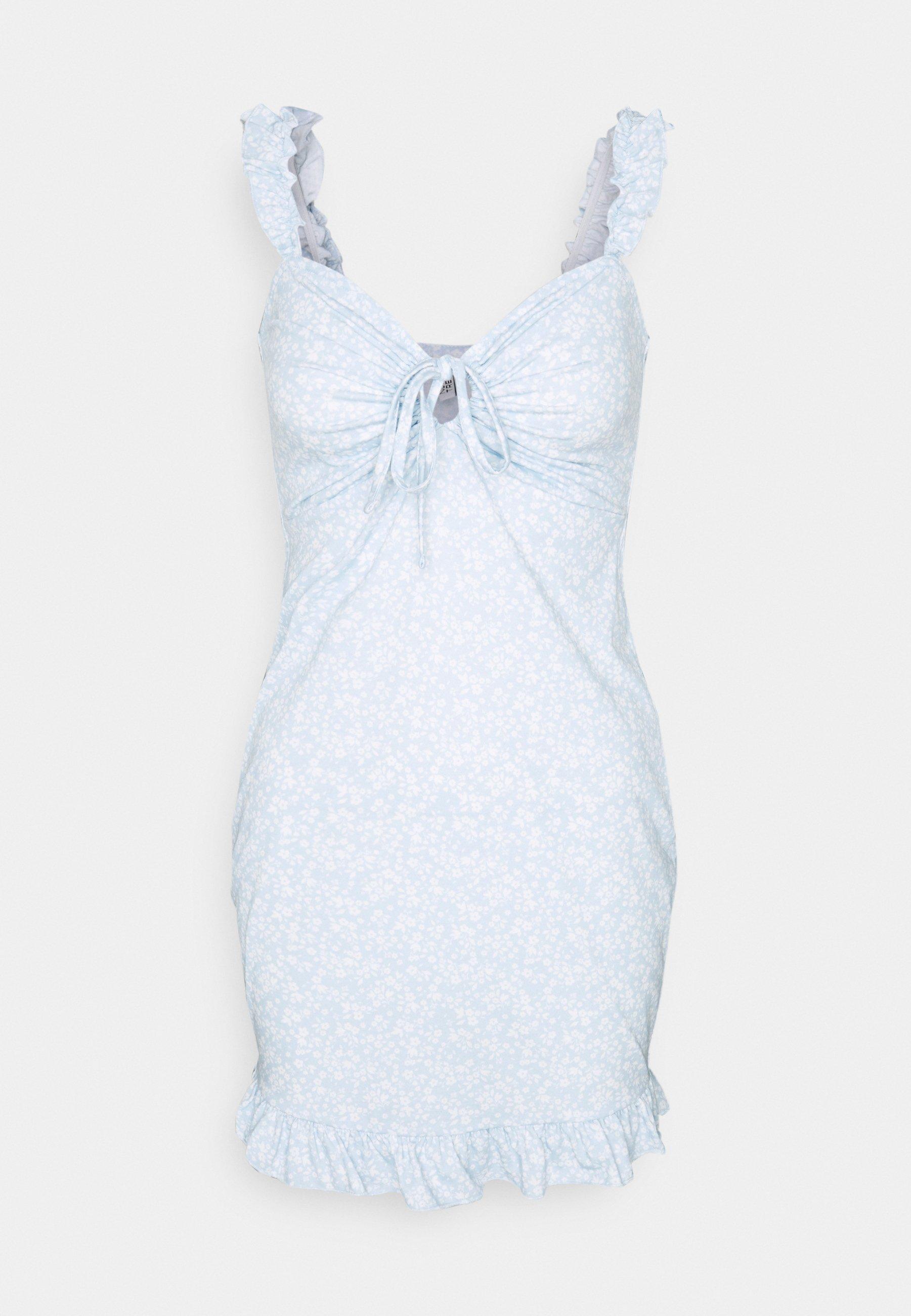 Women DRAWSTRING FRILL DRESS - Shift dress
