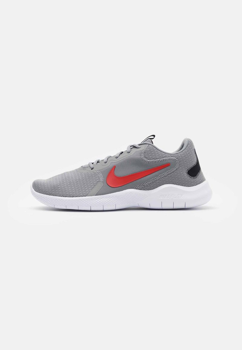 Nike Performance - FLEX EXPERIENCE RUN 9 - Zapatillas de competición - particle grey/chile red/black/racer blue