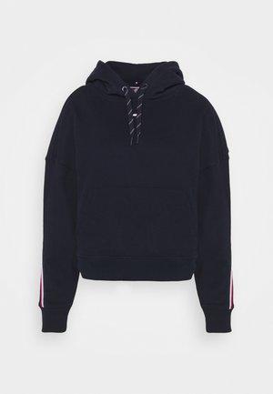 RELAXED TAPE HOODIE - Sweatshirt - blue