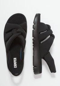 Camper - ORUGA - Sandaalit nilkkaremmillä - black - 3