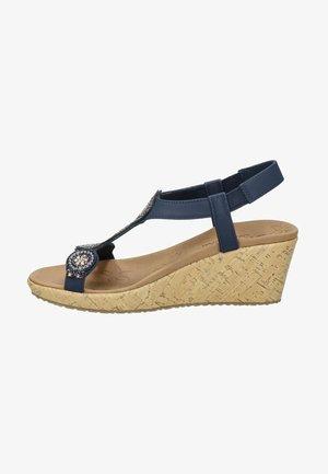 BEVERLEE - Wedge sandals - blauw